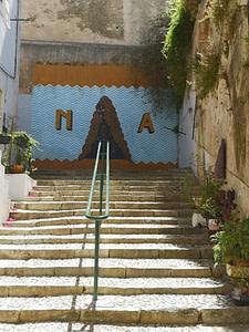 Calma, street artiste à Lisbonne, quartier de Mouraria