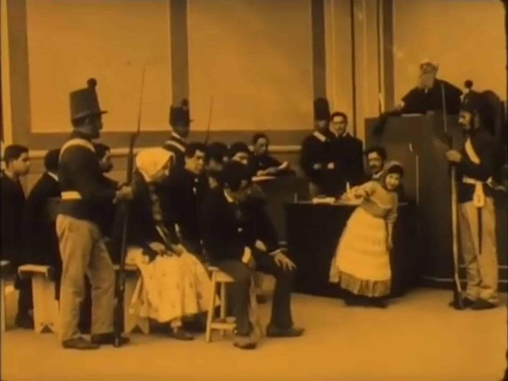 capture d'écran du film sur Diogo Alves en 1911.