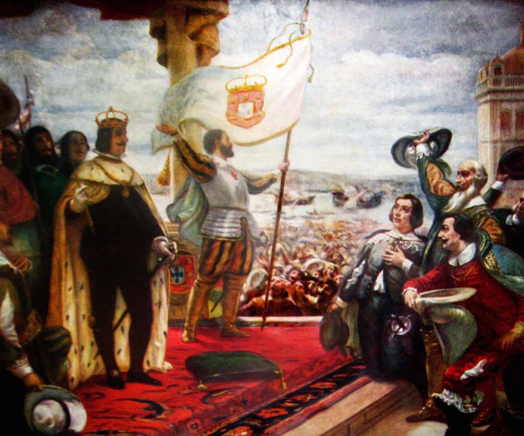 Jean IV est proclamé roi sur l'esplanade du Palais, l'actuelle place du Commerce.