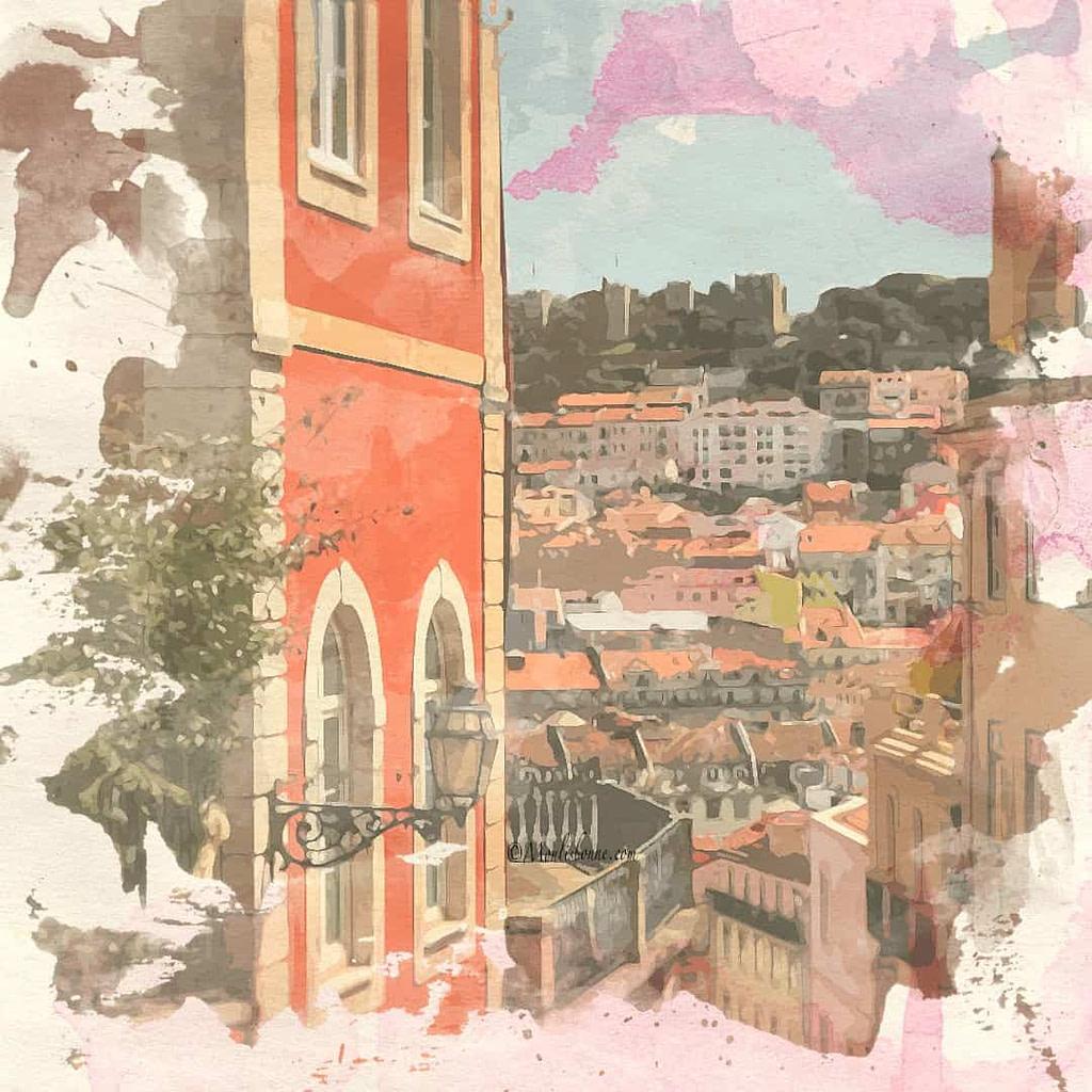 Calçada do Duque, des escaliers qui offrent une très belle vue de Lisbonne à travers une visite à pied privée en Français