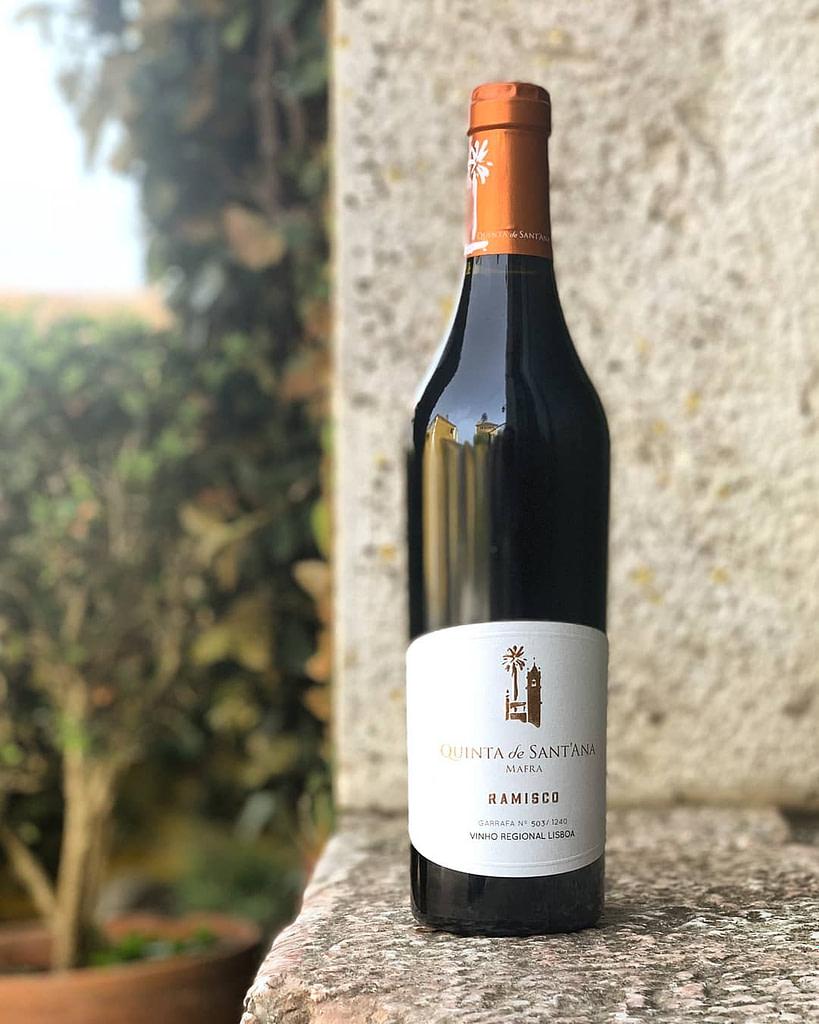 Vin portugais de Lisbonne de la maison Quinta de Sant'ana avec cépage Ramisco