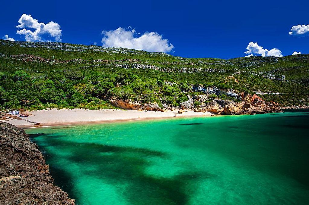 la plage dos Coelhos est un paradis caché entouré de verdure