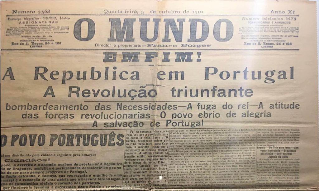 journal o mundo 5 octobre 1910