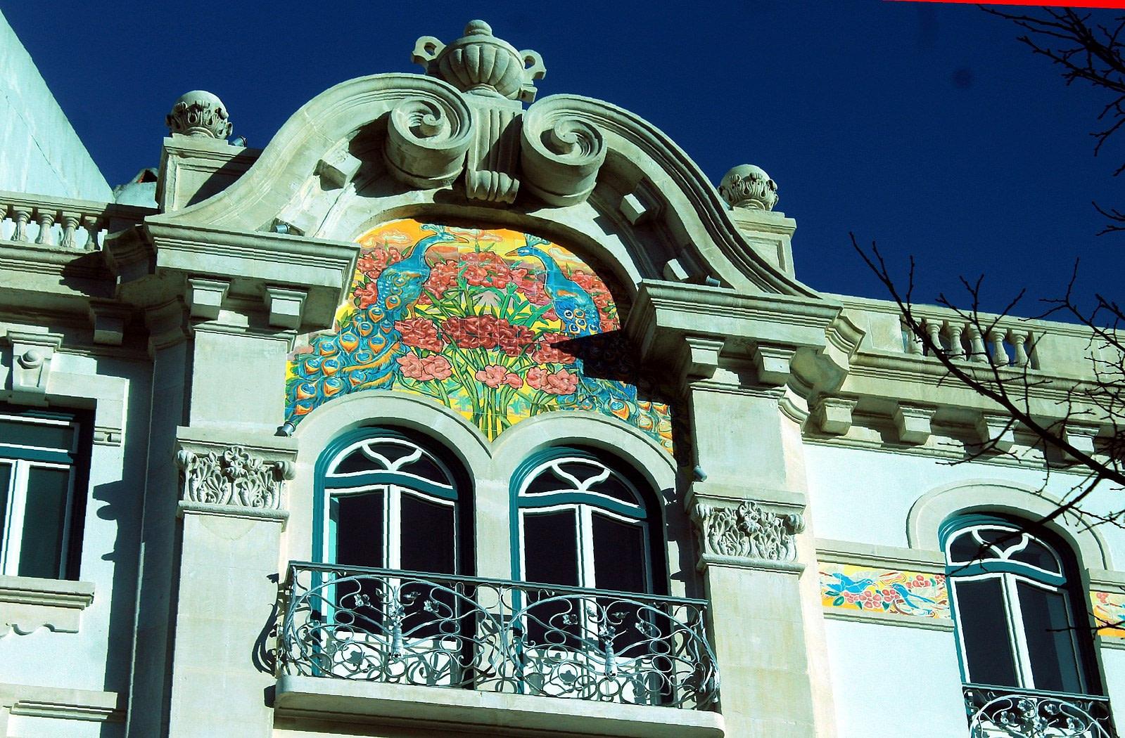 Frise azulejos Hotel 1908, typique art nouveau à Lisbonne