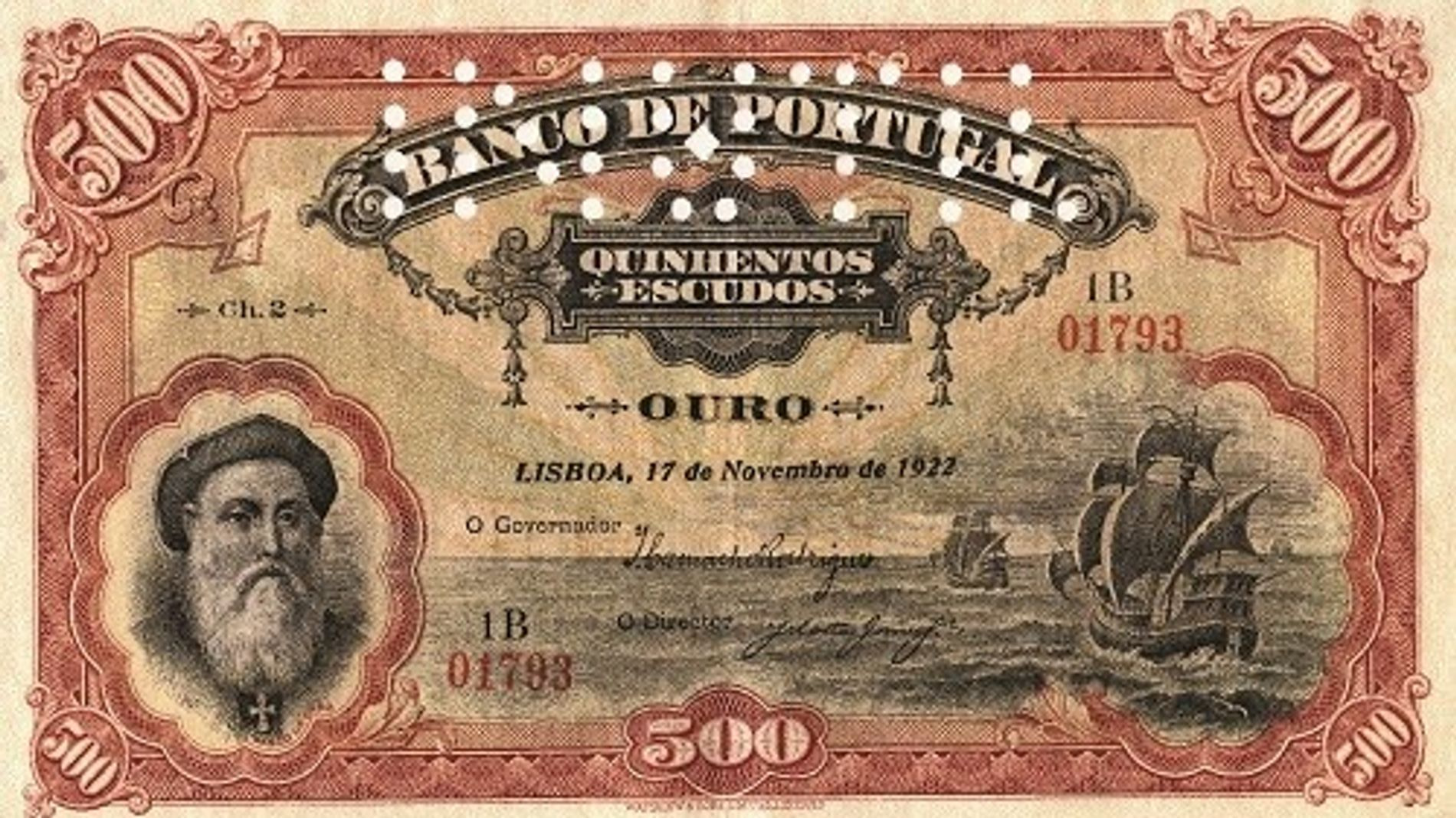 500 escudos falsifiés