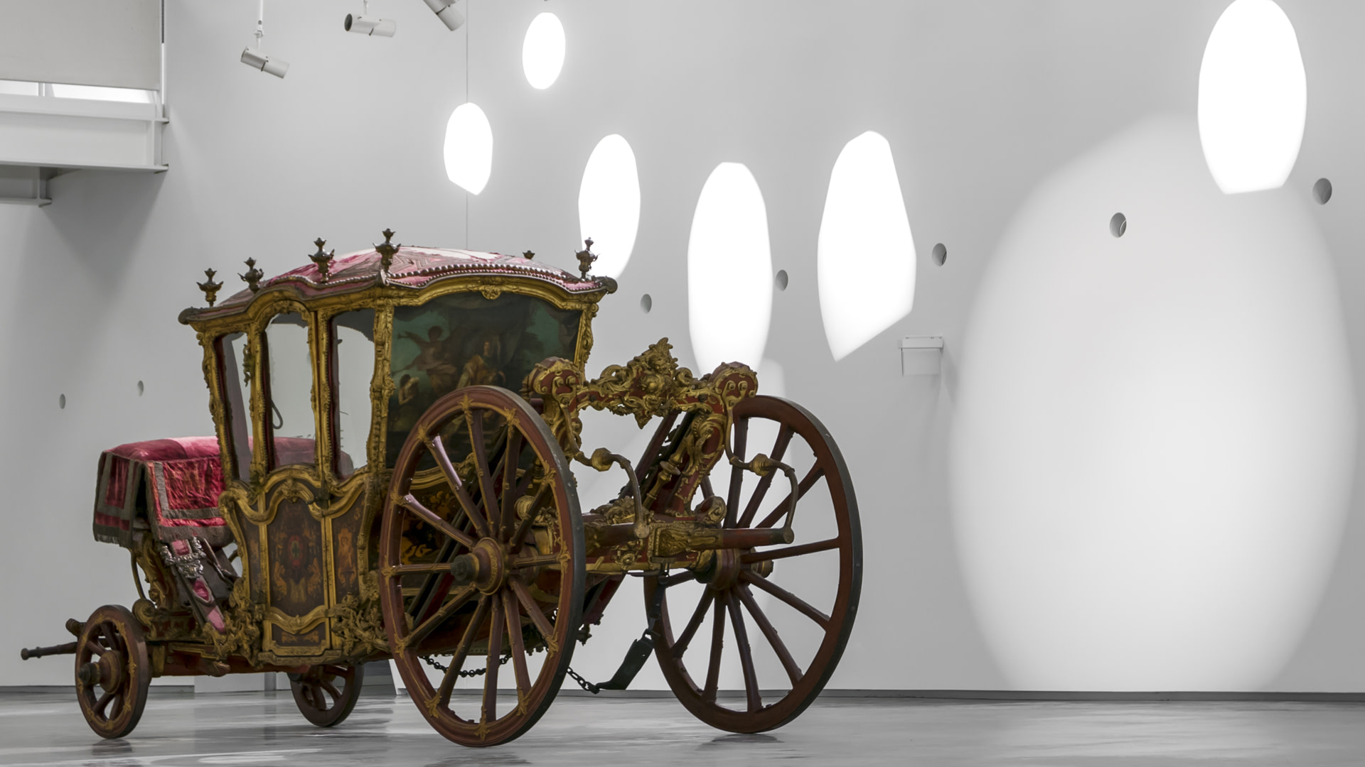 le musée national des carosses à Lisbonne a la plus grande collection de carrosses au monde