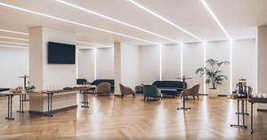 Salle pause café pour vos réunions pendant votre séminaire pro à Lisbonne.