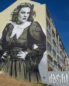 Street art géant d'Odeith à Amadora, dans la banlieue de Lisbonne