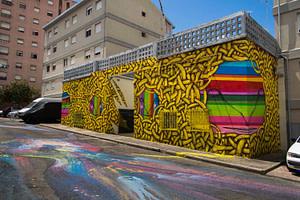 Collectif Arm e Mar, street art dans le quartier de Marvila à Lisbonne