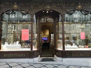 Bijouterie historique Tous (anciennement Aliança) située dans la rue commerçante du quartier bourgeois Chiado de Lisbonne