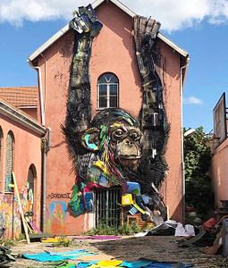 Bordalo II, artiste street-art à Lisbonne