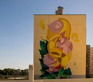 God Mess, street artiste dans le quartier de Marvila à Lisbonne