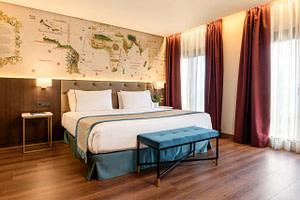 Chambre double ou twin avec parquet d'un hôtel 4 étoiles pour séminaire d'entreprise ou team building à Lisbonne