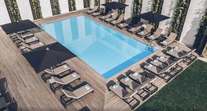 Piscine d'un hôtel 4 étoiles pour séminaire d'entreprise ou team building à Lisbonne