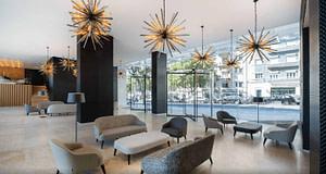Hall d'entrée d'un hôtel 4 étoiles pour séminaire d'entreprise ou team building à Lisbonne