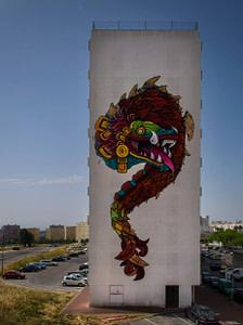 Klit, street artiste dans le quartier de Marvila à Lisbonne