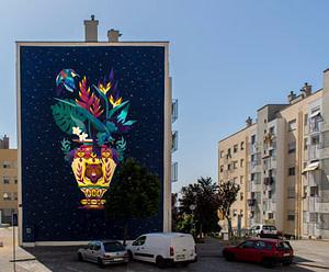 Kruella D'Enfer, street artiste dans le quartier de Marvila à Lisbonne