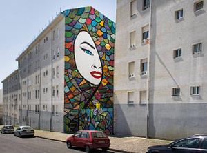 LS, street artiste dans le quartier de Marvila à Lisbonne