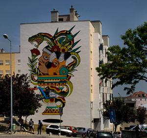 Miguel Brum, street artiste dans le quartier de Marvila à Lisbonne