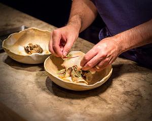 Cuisine d'un grand chef étoilé michelin à Lisbonne dans un restaurant gastronomique