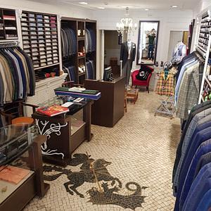 Boutique art nouveau San Giorgio, la plus belle boutique de Lisbonne et le meilleur tailleur pour homme
