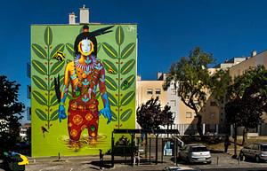 Steep Aeon, street artiste dans le quartier de Marvila à Lisbonne