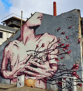 Street Art à Lisbonne sur Cais do Sodre de Tamara Alves