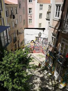 Collectif de street artistes à Lisbonne dans le quartier de Mouraria