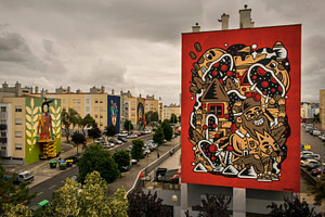 The Caver, street artiste dans le quartier de Marvila à Lisbonne