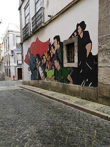 Street art d'Antonio Alves & Rigo dans le quartier de Bairro Alto à Lisbonne