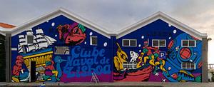 Street art du collectif de Boa Hora Estudio à Cais do Sodre à Lisbonne