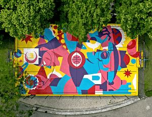 Street art d'Aka Corleone dans le quartier de Sant'ana à Lisbonne