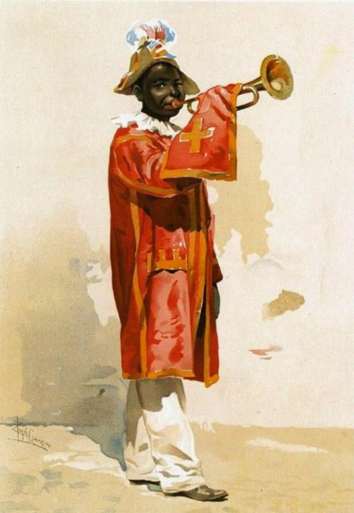 O preto de Sao Jorge pendant la cérémonie de Corpus Christi (Fête-Dieu)