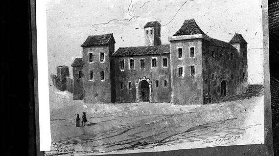 Le palais de l'inquisition de Lisbonne avant le tremblement de terre de 1755.
