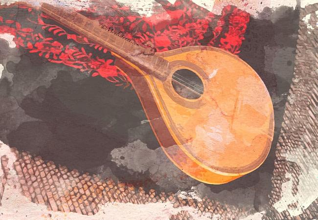 Guitare portugaise célèbre pour son son aigu et accompagne toujours un vrai chant de fado