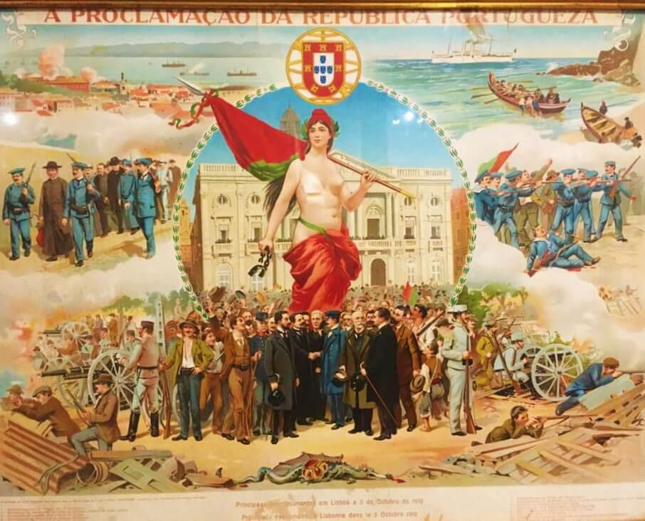 Révolution du 5 octobre Lisbonne Portugal