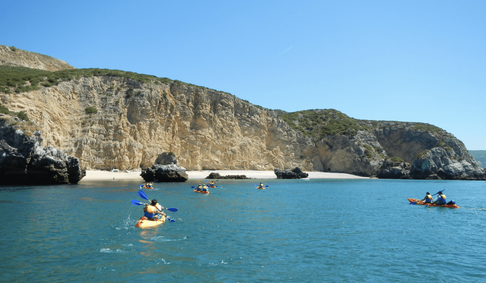 Tour en Kayak : côte sauvage de Sesimbra.