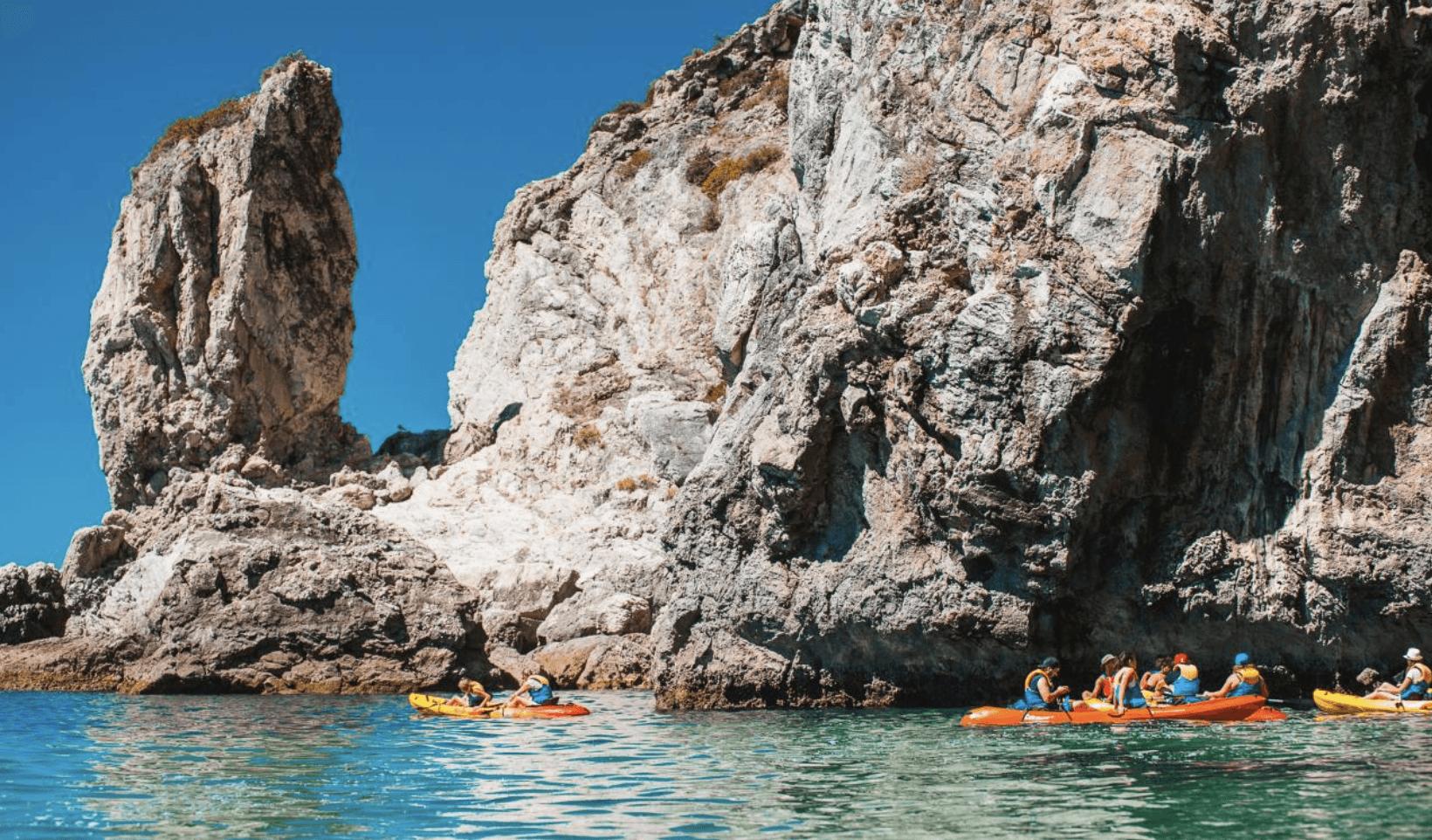 Les criques d'Espichel en kayak