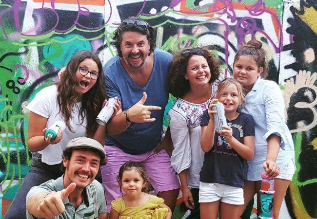 Street art et graffiti dans les rue du centre ville de Lisbonn