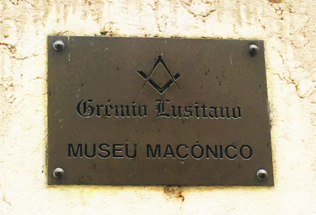 L'entrée du Musée Maçonnique de Lisbonne