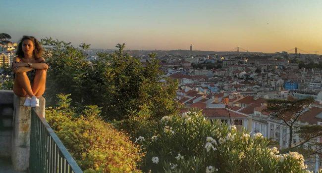 Coucher de soleil sur Arroios, le quartier le plus cool du monde situé à Lisbonne et très alternatif